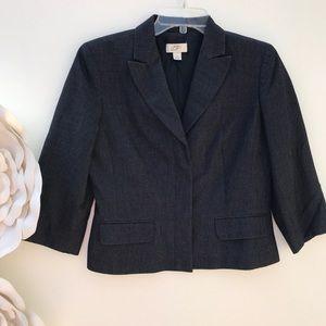 LOFT by Ann Taylor Crop Length Suit Blazer Jacket